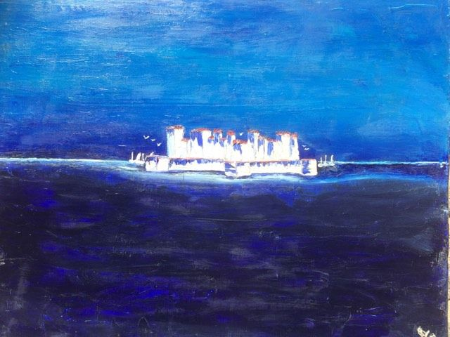 The Artists Island 80cm X 100cm Oil On Canvas 2004