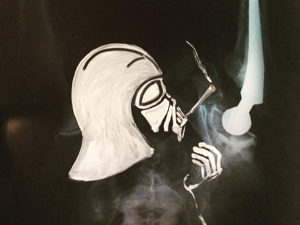 The Darth Side 2018 Oil On Xray
