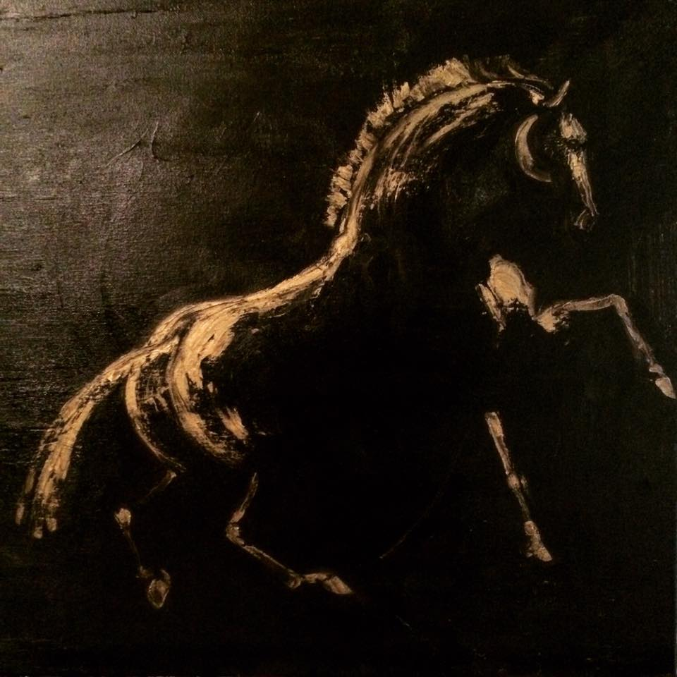 Etude du Cheval 60cm X 60cm Oil On Canvas 18