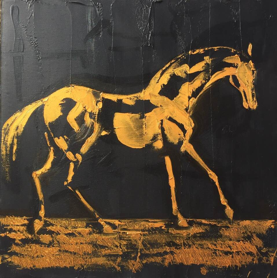 Cheval En Or 50 Cm X 50 Cm Oil On Canvas 2019