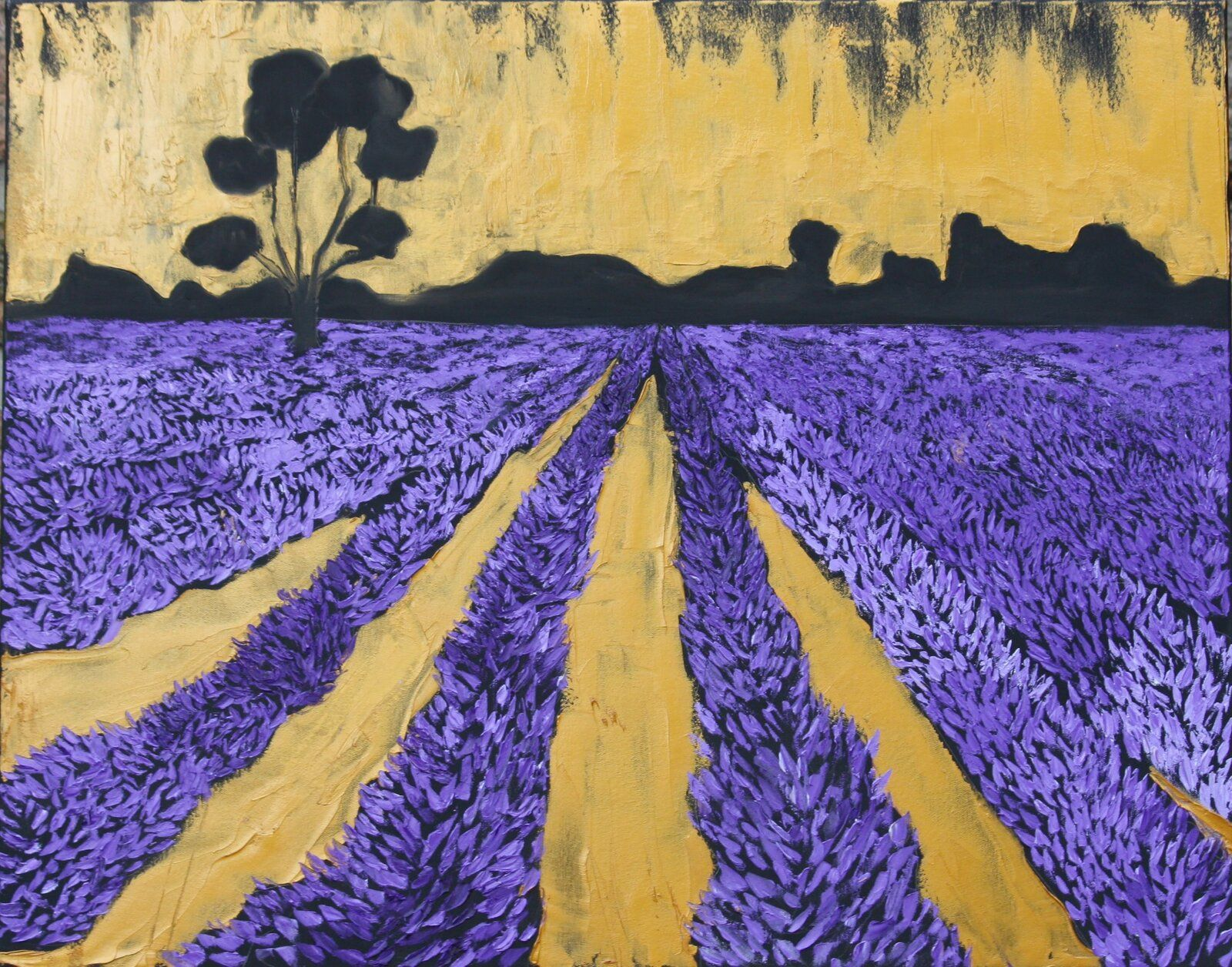 Lavender Fields Forever 92 Cm X 73 Cm Oil On Canvas 2019